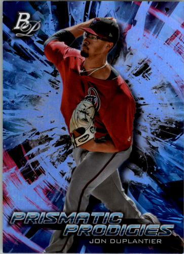 Photo of 2018 Bowman Platinum Prismatic Prodigies #PPP17 Jon Duplantier