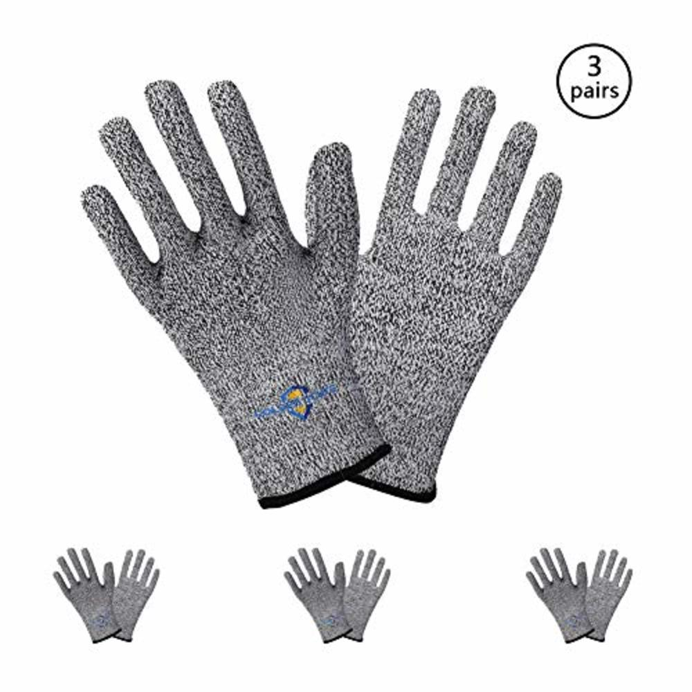 Photo of Golden Scute Cut Resistant Work Gloves, PPE Hand Protection Gloves, Ideal for Emergency Kit, Kitchen, Fishing, Cleaning, Garments Cutting, General Handing, Metal Fabrication, 3 Pairs (Small/Size 7)
