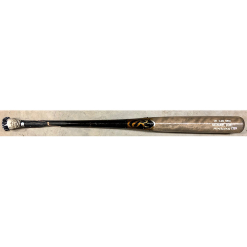 Photo of Game Used (2-Piece) Broken Bat: Nate Lowe - September 29, 2020 v TOR