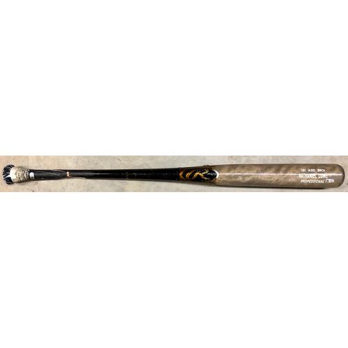 Photo of Game Used (2-Piece) Broken Bat: Nate Lowe - September 29, 2020 v TOR