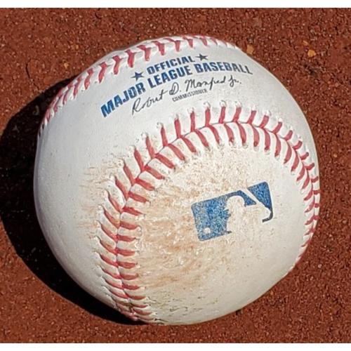 Photo of 2021 Game-Used Baseball - Wander Franco Single (3rd career 3-hit game)