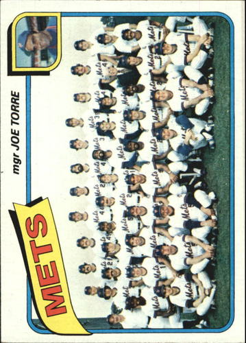 Photo of 1980 Topps #259 New York Mets CL/Joe Torre MG