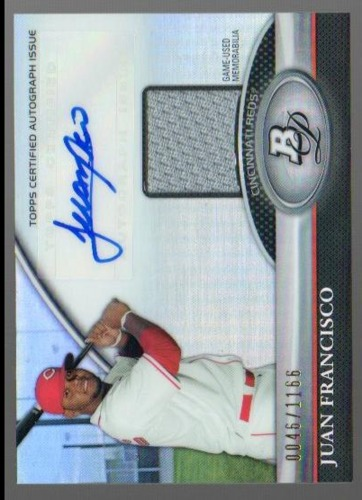 Photo of 2011 Bowman Platinum Relic Autograph Refractors #JF Juan Francisco/1166
