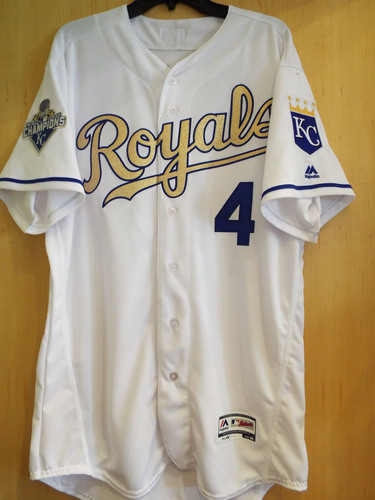 Kansas City Royals 2016 Opening Day Gold Jersey worn by Christian ...