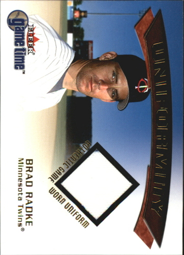 Photo of 2001 Fleer Game Time Uniformity #16 Brad Radke