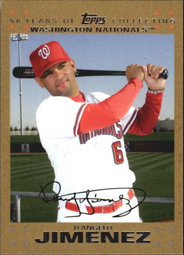 Photo of 2007 Topps Update Gold #304 D'Angelo Jimenez