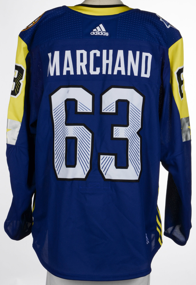 timeless design 0dd11 956ab Brad Marchand Boston Bruins Game-Used 2018 All-Star Game ...