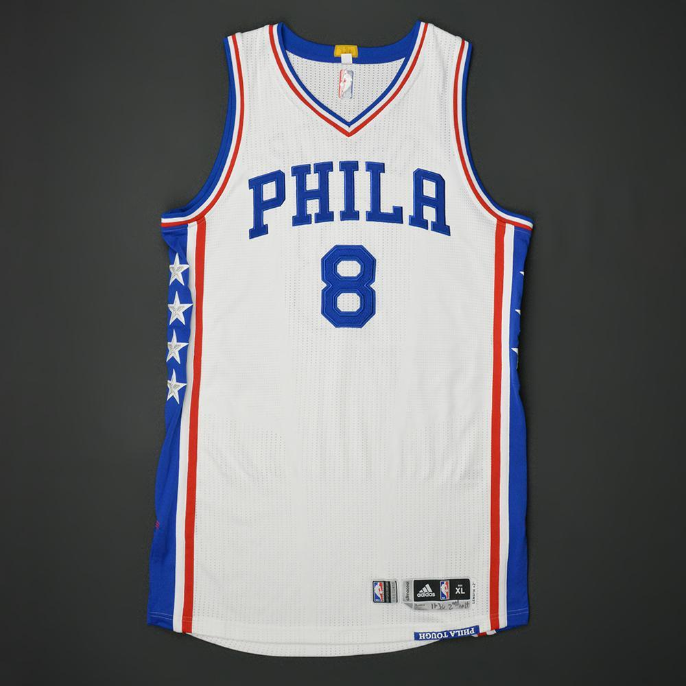 Jahlil Okafor - Philadelphia 76ers - Game-Worn 2nd Half Only Jersey - 2016-17 NBA Season - Double-Double
