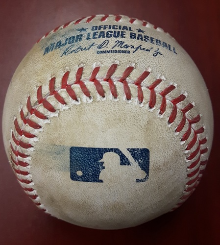 Photo of Authenticated Game Used Baseball - Marco Estrada Strikeout of Adam Jones (April 15, 2017: Top 5)