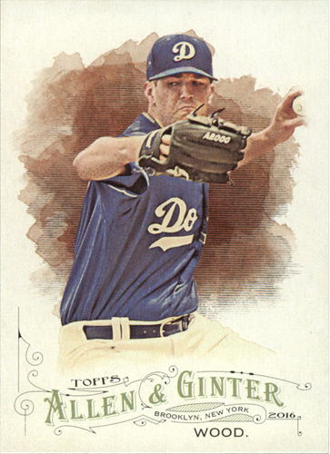 Photo of 2016 Topps Allen and Ginter #181 Alex Wood -- Dodgers post-season