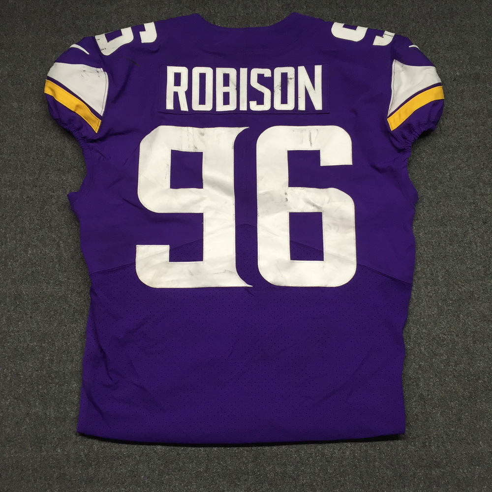 new product d50a7 54b88 NFL Auction | CRUCIAL CATCH - VIKINGS BRIAN ROBISON GAME ...