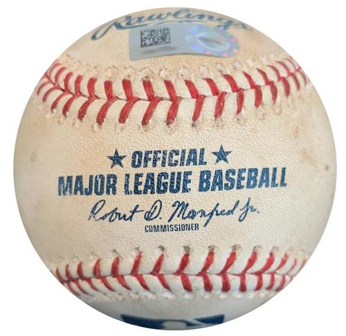 Photo of Game-Used Baseball from Pirates vs. White Sox on 5/15/18 - Jose Abreu Foul