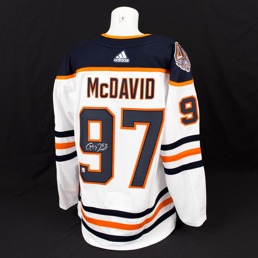 san francisco 560ea 533b4 Connor McDavid #97 - Autographed Edmonton Oilers White ...