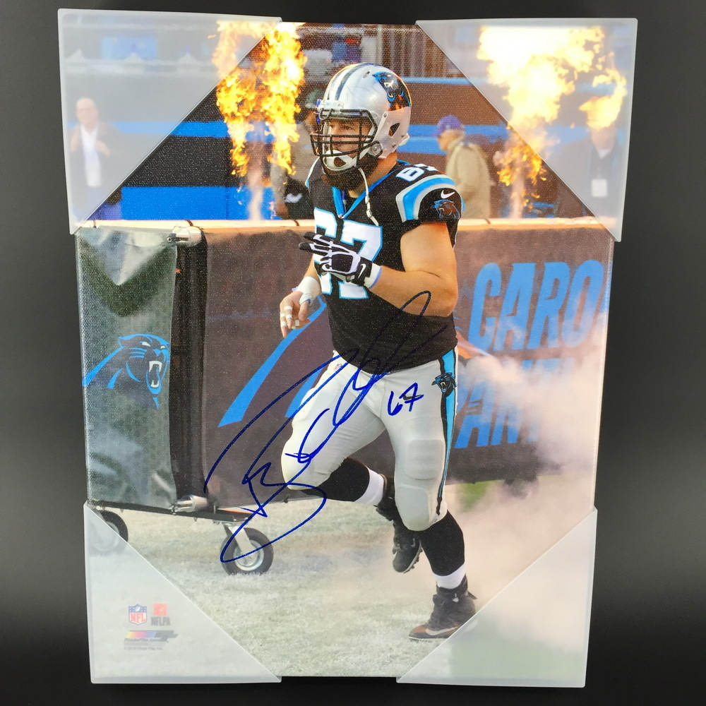 Panthers - Ryan Kalil Signed Canvas Print 11X14