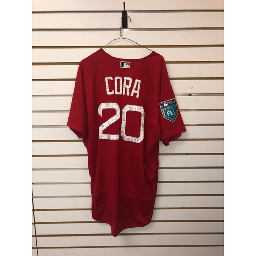 Photo of Alex Cora Team-Issued 2018 Spring Training Jersey