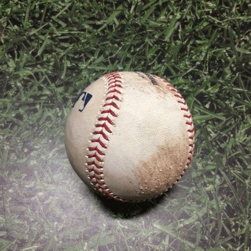 Photo of Game-Used Baseball STL@MIL 04/15/19 - Dakota Hudson - Lorenzo Cain: Single