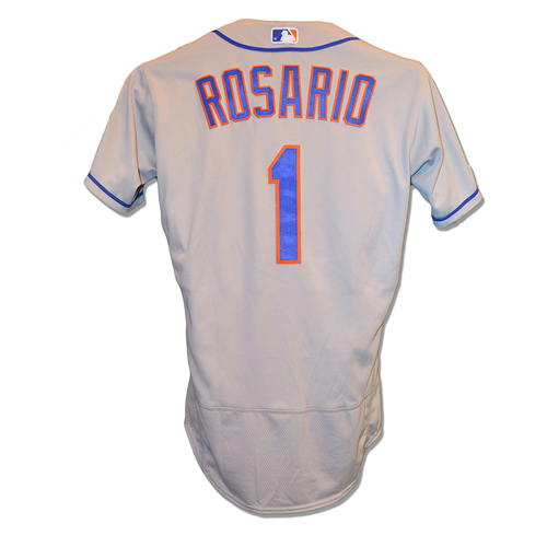 online store 2a4e5 660e7 MLB Auctions | Amed Rosario #1 - Game Used Road Grey Jersey ...