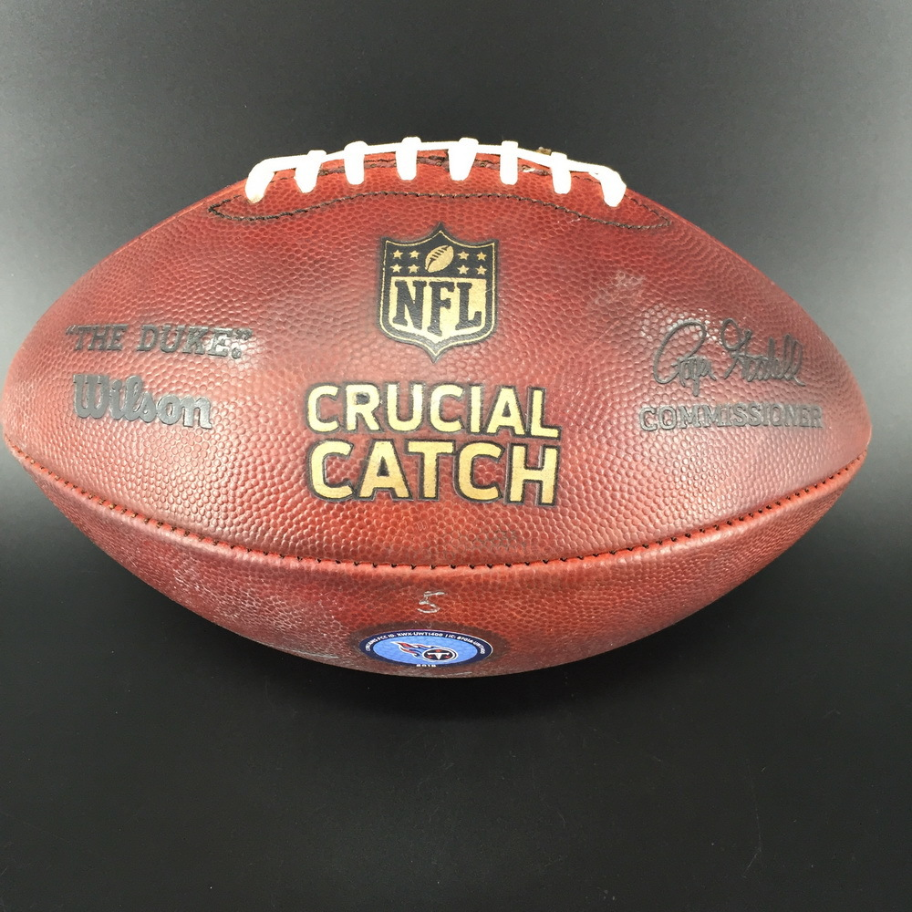 Crucial Catch - Titans Dion Lewis Signed and Game Used Football (October 14th, 2018)