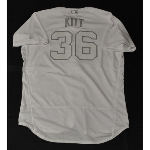 "Photo of Andrew ""KITT"" Kittredge Tampa Bay Rays Game-Used 2019 Players' Weekend Jersey"