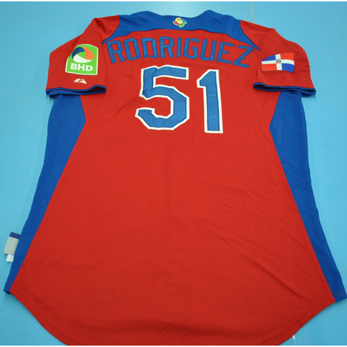 Photo of Game-Used Jersey - 2013 World Baseball Classic - Dominican Republic - #51 Wandy Rodriguez - Final - Puerto Rico vs. Dominican Republic - 3/19/2013