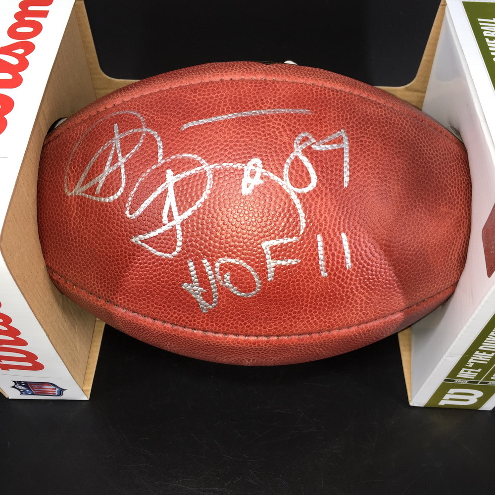 HOF - Broncos Shannon Sharpe Signed Authentic Football