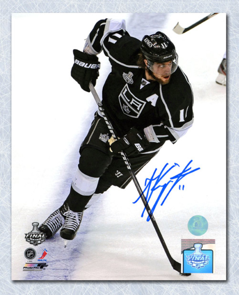 Anze Kopitar Los Angeles Kings Autographed Stanley Cup Action 8x10 Photo