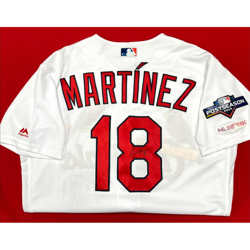 Photo of Carlos Martinez Autographed Team Issued Home Jersey w/ 2019 Postseason Patch (Size 42)