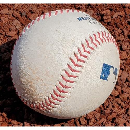 Photo of 2021 Game-Used Baseball - Zack Wheeler Strike Out #202 of season