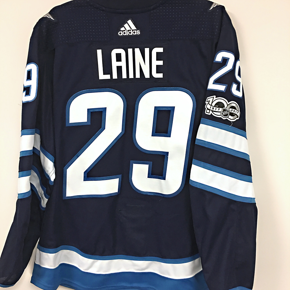 e7006f0e7f3 PATRIK LAINE Hawerchuk Hall of Fame Night Game Worn Jersey - NHL ...