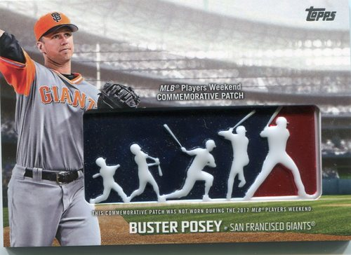 Photo of 2018 Topps Players Weekend Patches #PWPBP Buster Posey