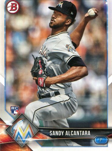 Photo of 2018 Bowman #37 Sandy Alcantara -- Rookie Card
