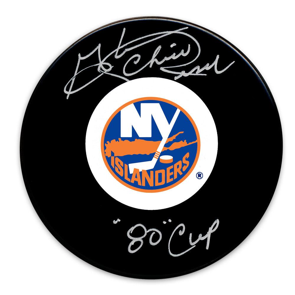 Glenn Chico Resch New York Islanders 1980 Cup Autographed Puck