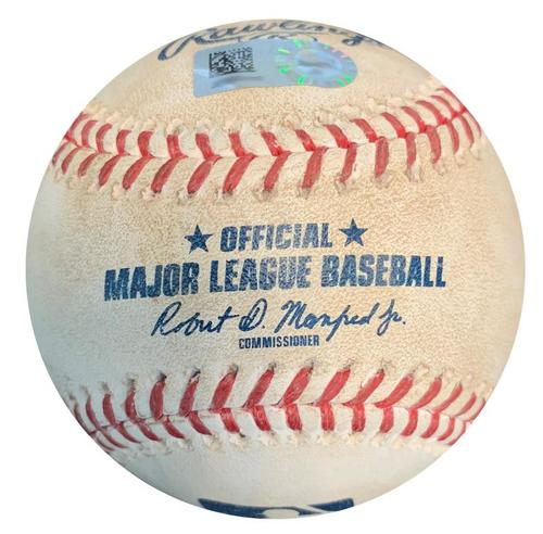 Photo of Game-Used Baseball from Pirates vs. Padres on 5/19/18 - Corey Dickerson Foul