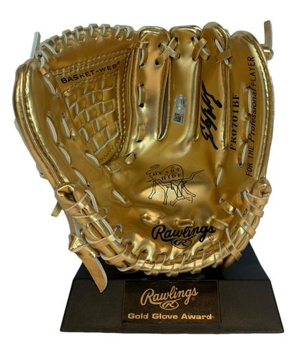 Photo of Starling Marte Autographed Mini Gold Glove