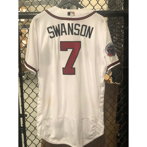 Photo of Dansby Swanson Game-Used Los Bravos Jersey - Worn 9/17/17