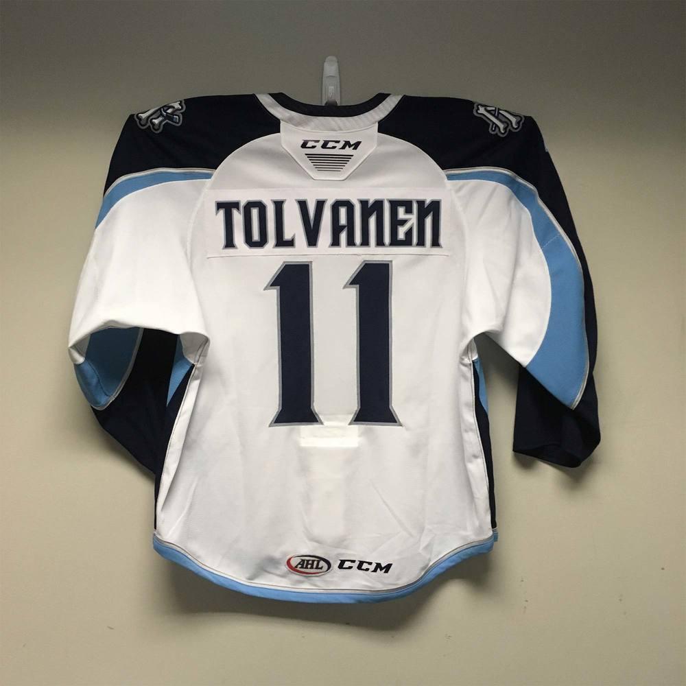 Milwaukee Admirals Regular Season Jersey worn by #11 Eeli Tolvanen