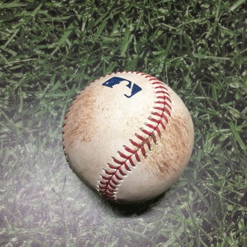 Photo of Game-Used Baseball STL@MIL 04/16/19 - Jack Flaherty - Brandon Woodruff: 2-Run Double