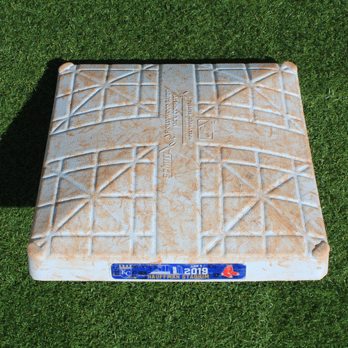 Photo of Game-Used 2nd Base: Jackie Bradley Jr. 133rd Career Double and 307th, 308th and 309th Career RBIs (BOS @ KC - 6/5/19 - Innings 1-5)