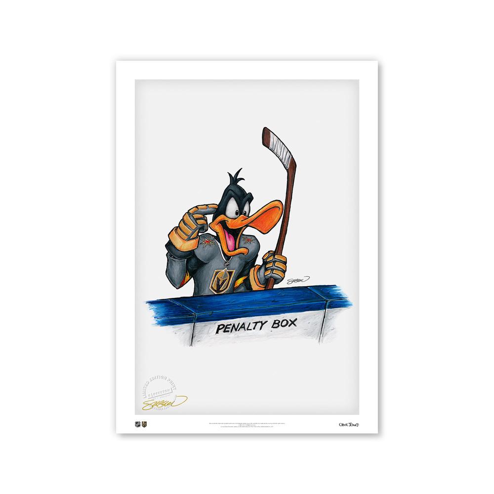 Vegas Golden Knights Minimalist NHL Logo Limited Edition Art Print by S. Preston