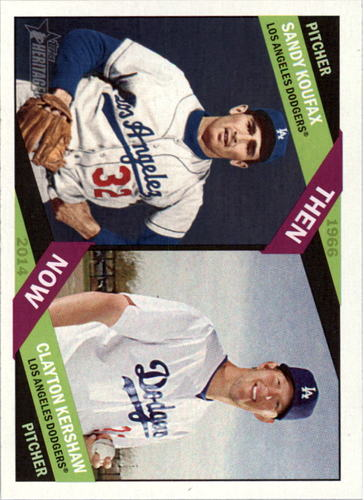 Photo of 2015 Topps Heritage Then and Now #TAN8 Clayton Kershaw/Sandy Koufax