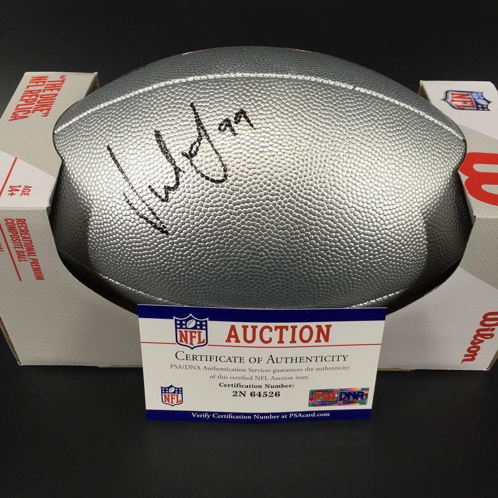 NFL - Broncos Jurrell Casey Signed Silver 100 Seasons Commemorative Football