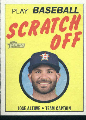 Photo of 2019 Topps Heritage '70 Topps Scratch Offs #2 Jose Altuve