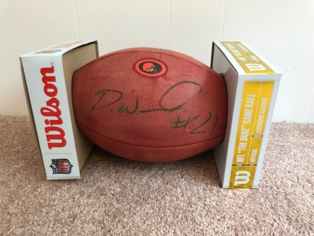 CLEVELAND BROWNS - DENZEL WARD AUTOGRAPHED FOOTBALL