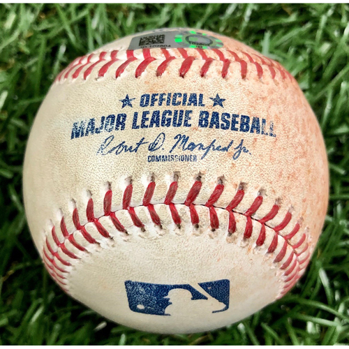 Photo of Game Used Baseball: Christian Arroyo single off Pete Fairbanks - September 10, 2020 v BOS