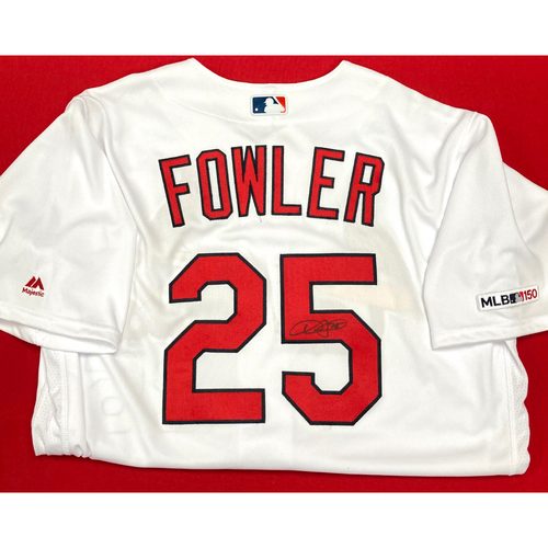 Photo of Dexter Fowler Autographed Team Issued Home Jersey (Size 46)