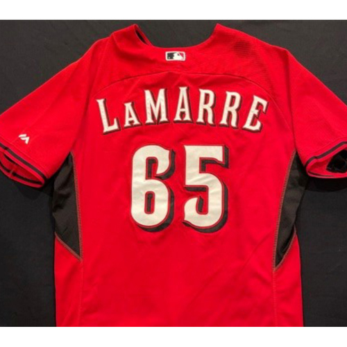 Photo of LAMARRE -- Authentic Reds Jersey -- $1 Jersey Auction -- $5 Shipping -- Size 48 (Not MLB Authenticated)