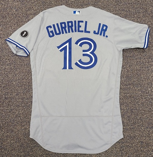 Photo of Authenticated Team Issued Jersey: #13 Lourdes Gurriel Jr. (2020 Season). Set 2. Size 44.