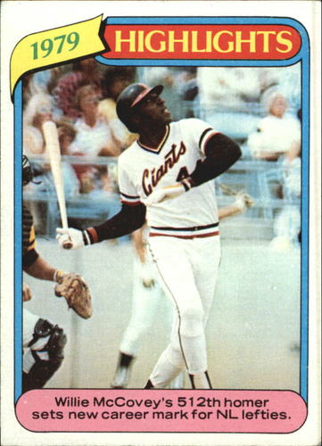 Photo of 1980 Topps #2 Willie McCovey HL