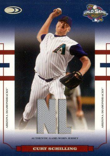 Photo of 2004 Donruss World Series Blue Material Fabric AL/NL #19 C.Schill D'backs Jsy/100