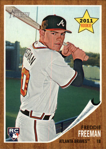 Photo of 2011 Topps Heritage #76 Freddie Freeman RC